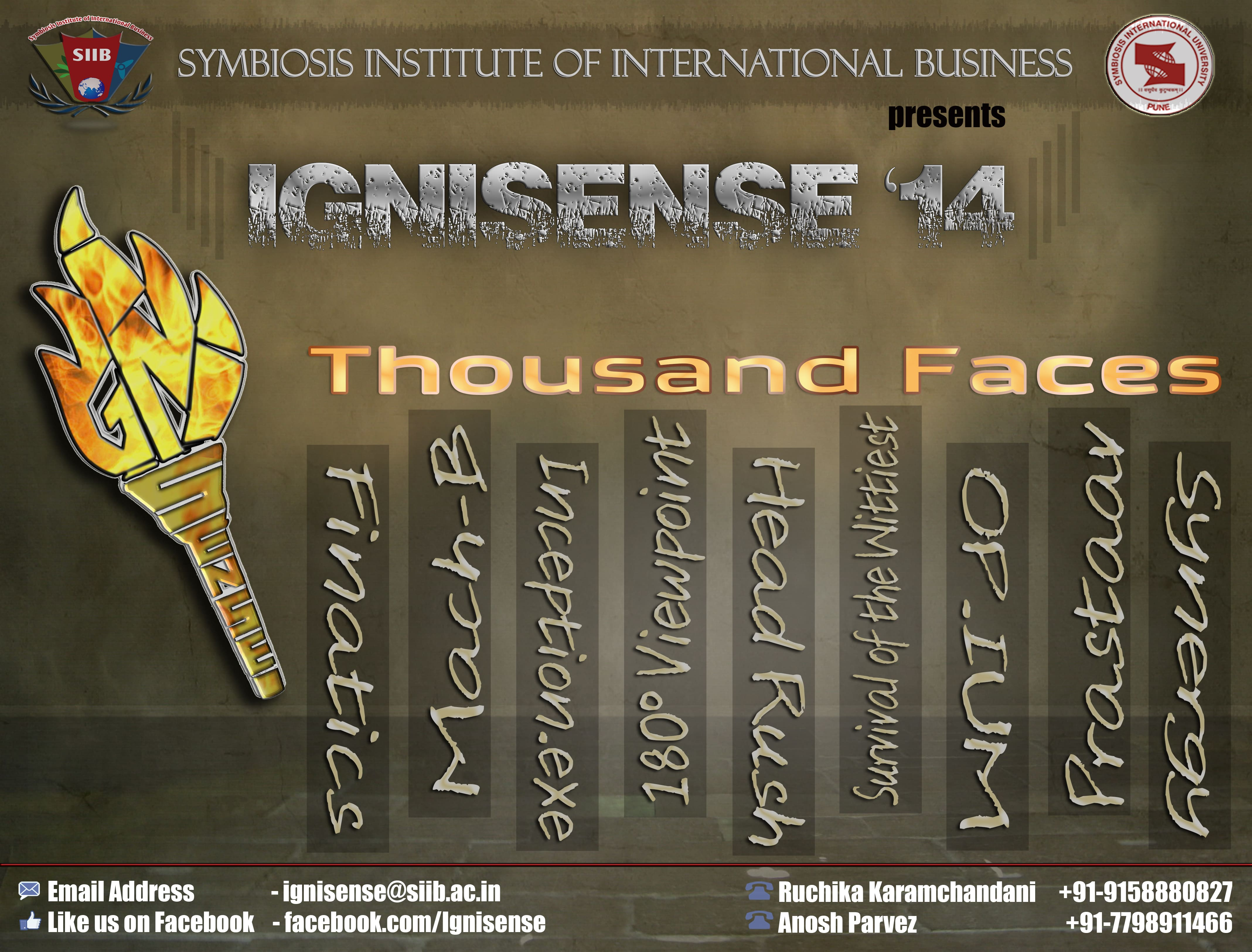 IGNISENSE'14… The Annual Management and Cultural Event..